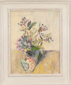 Spanish Vase and Flowers, still life oil painting