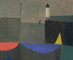 Yellow Sail and Lighthouse