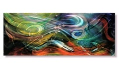 Nicholas Yust Abstract Modern Industrial Painted Metal Wall Decor Sculpture