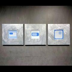Nicholas Yust, Fine Metal Wall Art, Rare Original One of a Kind Triptych