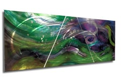Nicholas Yust Metal Contemporary Painting Sculpture Purple Blue Silver Green