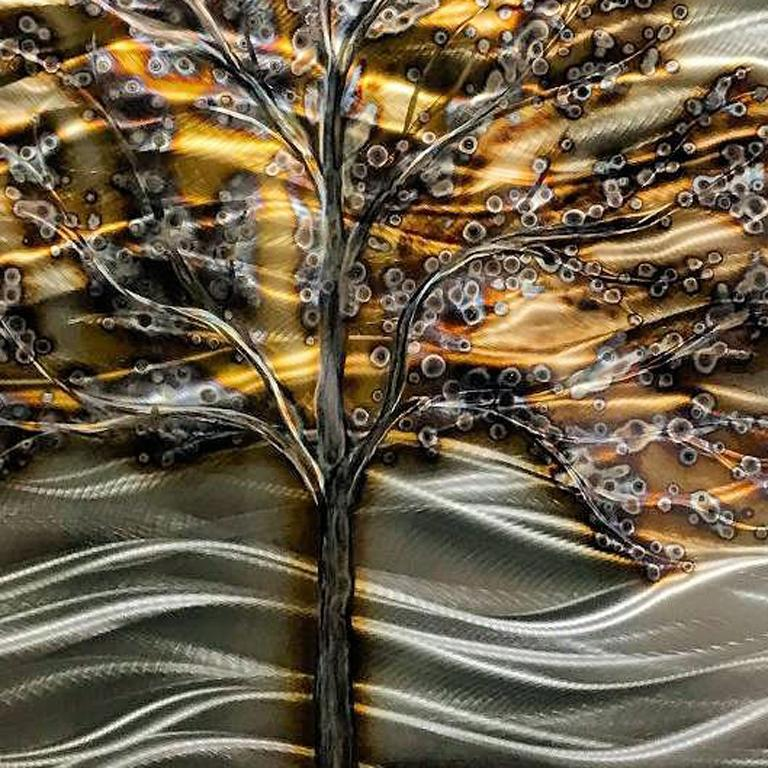 Nicholas Yust Torched Metal Contemporary Abstract Landscape Wall Art Sculpture For Sale 3