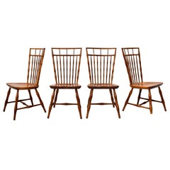 Nichols & Stone Birdcage Windsor Dining Chairs, Set of 6