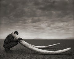 Two Rangers with Tusks of Killed Elephant, Amboseli