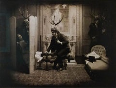 The Gentleman Caller (Nick Simpson Sepia Victorian Styled Theatrical Photograph)