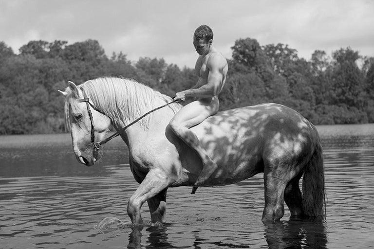 Nick Turner Black and White Photograph - Untitled (Horseback)