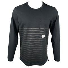 NICK WOOSTER x PAUL & SHARK Size M Black Stripe Cotton Crew-Neck Pullover