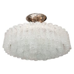 Nickel and Glass Icy Tiered Chandelier