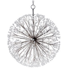 Nickel Dandelion 32 Chandelier Designed by Tony Duquette for Remains Lighting