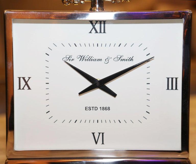 Contemporary Nickel Desk Clock For Sale