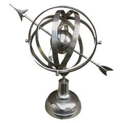 Nickel-Plated Armilary Sphere