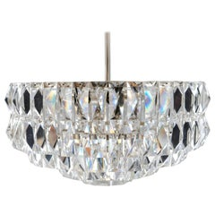 Nickel-Plated Bakalowits Crystal Chandelier, circa 1960s