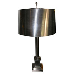 Nickel Plated Bronze Maison Charles Table Lamp
