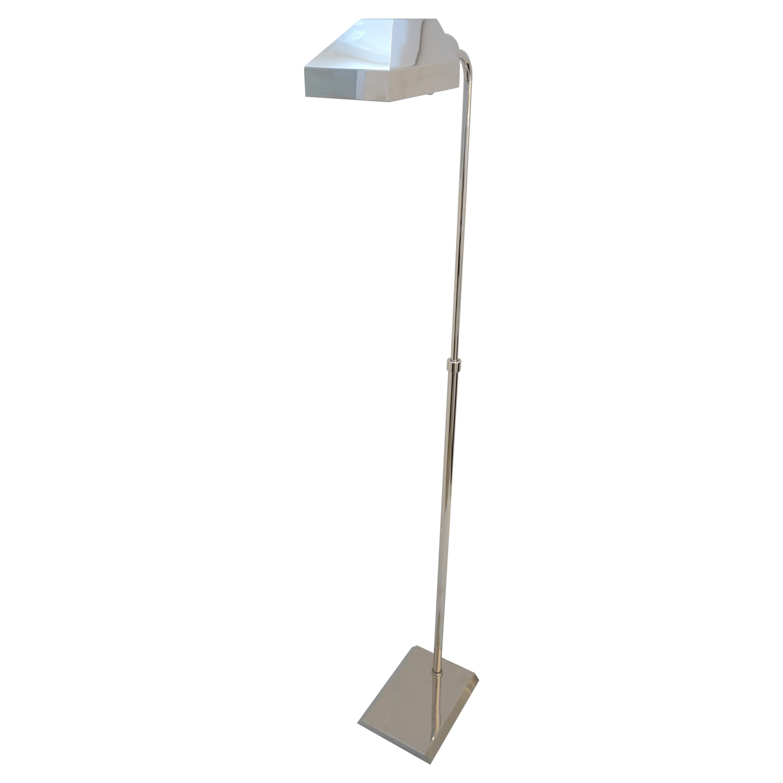 Nickel Plated Casella Style Floor Lamp