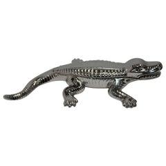 Nickel-Plated Match Striker, Alligator Form