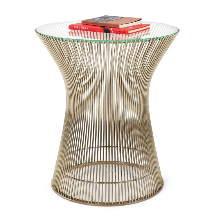 Mid-Century Modern 1960s Nickel Side Table by Warren Platner for Knoll For Sale
