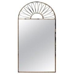 Nickel Silver Mirror Vintage Italian