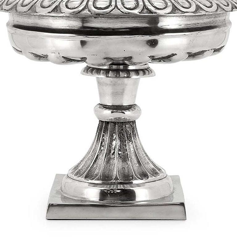 Cast Nickel Table Bowl in Nickel Finish For Sale