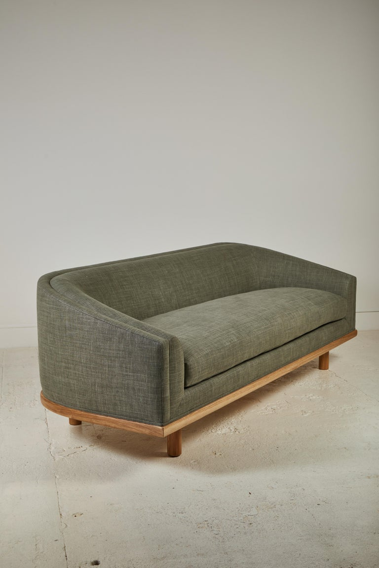 Linen Nickey Kehoe Collection Curved Sofa