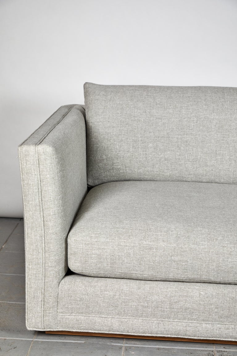 Linen Nickey Kehoe Collection Modern Sofa For Sale