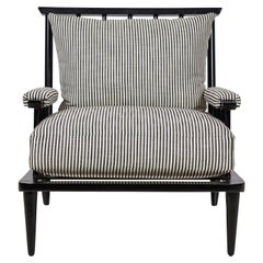 Nickey Kehoe Collection Outdoor Black Metal Spindle Lounge Chair