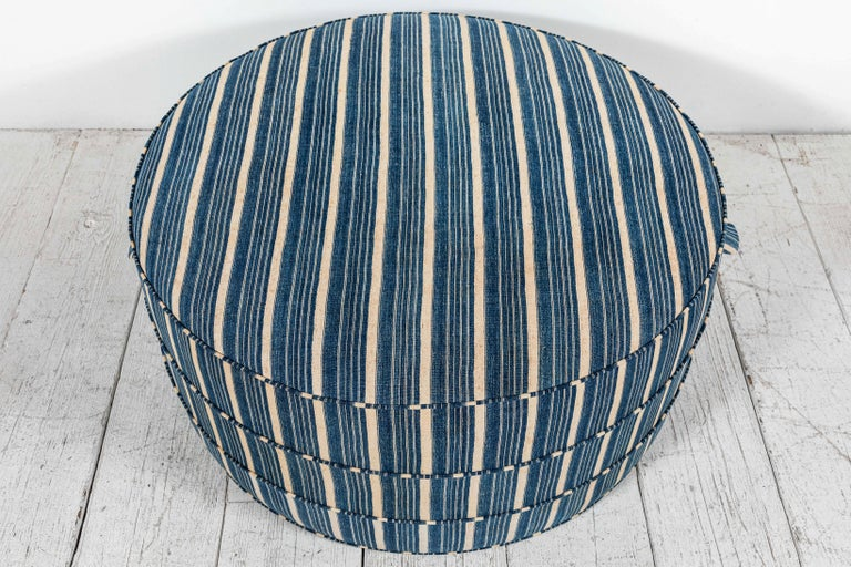 Nickey Kehoe Collection Round Ottoman In New Condition In Los Angeles, CA