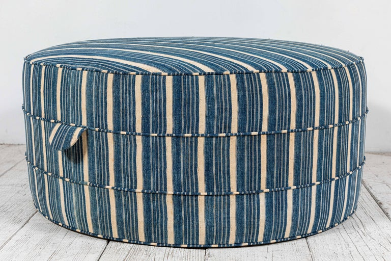 Contemporary Nickey Kehoe Collection Round Ottoman
