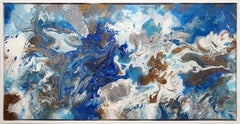 """""""Coastal Clarity""""  24x48  Resin on canvas"""