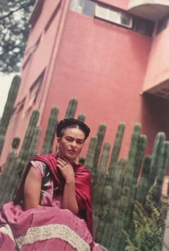 Frida In Front of Organ Cactus Fence, Atlavista, 1938