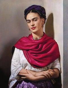 "Frida Kahlo with Magenta Rebozo ""Classic"""