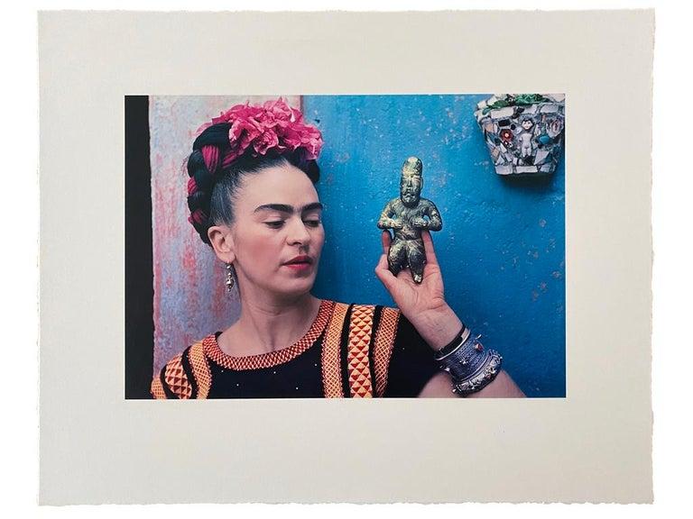 Frida with Idol - Modern Photograph by Nickolas Muray
