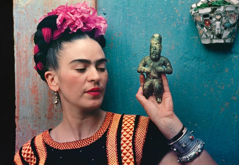 Nickolas Muray Portrait Photograph - Frida with Idol