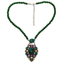 Nicky Butler Limited Ed Raj Collection Sterling Silver Multi-Gemstone Necklace