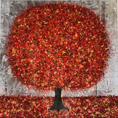 Nicky Chubb, Autumn Silver, Contemporary Landscape Painting, Affordable Art