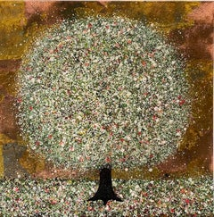 Nicky Chubb, Blossom in the Orchard, Contemporary Landscape Painting, Art Online