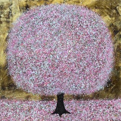 Nicky Chubb, Blossoming, Original Abstract Landscape Painting, Affordable Art