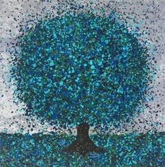 Nicky Chubb, Cobalt Blue III, Affordable Art, Landscape Art, Contemporary Art