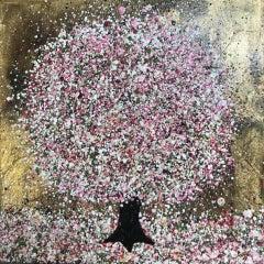 Nicky Chubb, Gentle Spring Blossom, Pink Art, Spring Art, Tree Art, Bright Art