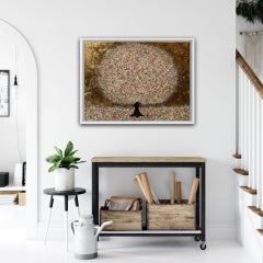 Nicky Chubb, Peachy Sunshine, Original Landscape Painting, Affordable Art
