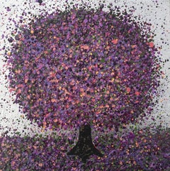 Nicky Chubb, Silver Lilac Morning III, Affordable Art, Original Painting