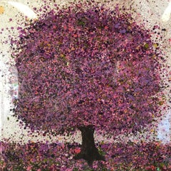 Nicky Chubb, Silver Lilac Morning, Original Art, Tree Art, Affordable Art