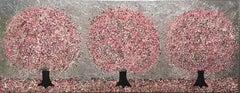 Nicky Chubb, Silver Spring Morning, Original Painting, Nature art, Tree Painting