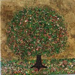 Nicky Chubb, Sunny Summer Days, Original Landscape Painting, Tree Art, Pop Art