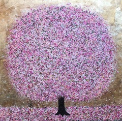 Spring Is Here, Nicky Chubb, Original Painting, Tree art, Pink