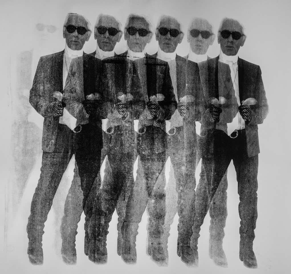 Niclas Castello Shooting Karl Black And White X7 Karl Lagerfeld Contemporary Pop Art 21thc For Sale At 1stdibs