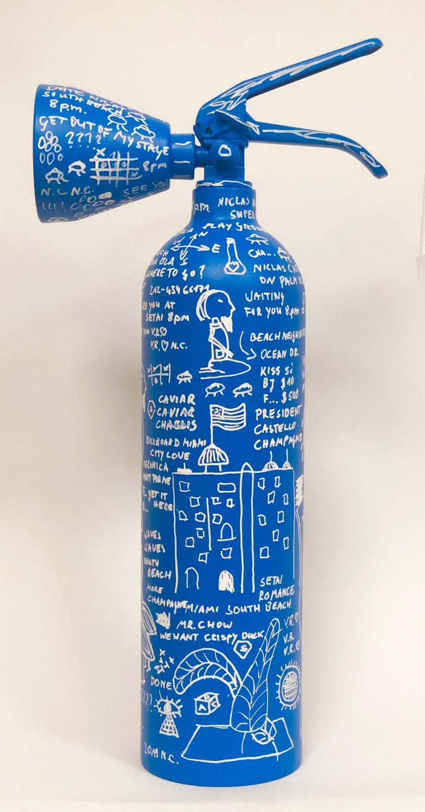 Blue Fire Extinguisher