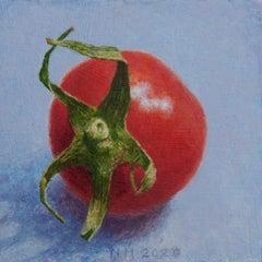 ''Tomato'' Contemporary Dutch Miniature Still Life Painting of a Cherry Tomato