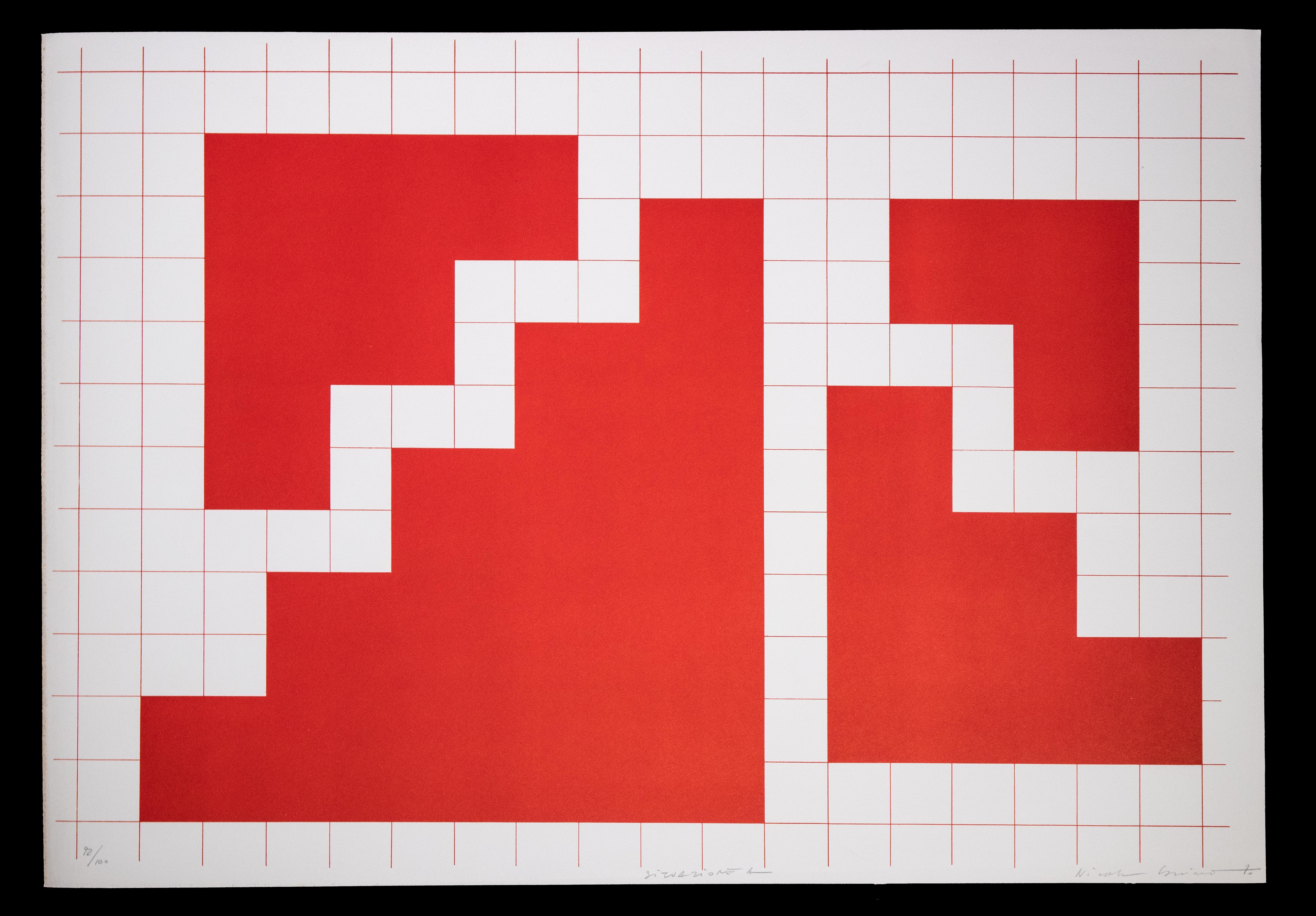 Situation A - Original Lithograph by Nicola Carrino - 1970 ca.
