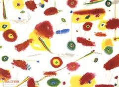 1989 Nicola de Maria 'Many Kisses' Contemporary Red,Multicolor Italy Offset