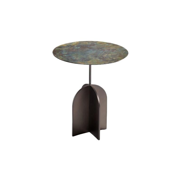 Nicola Iron Side Table by De Castelli For Sale